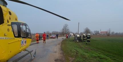 Nyolc utassal a mikrobuszában balesetezett egy versendi férfi