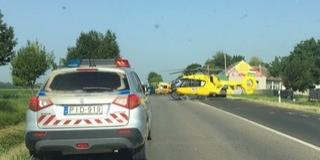 Halálos baleset Lánycsóknál: autóval ütközött egy robogó