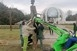 Elkezdődött a kopjafák és a szobrok helyreállítása a Mohácsi Nemzeti Emlékhelyen