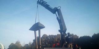 Megkezdődött a Mohácsi Nemzeti Emlékhely haranglábjának restaurálása