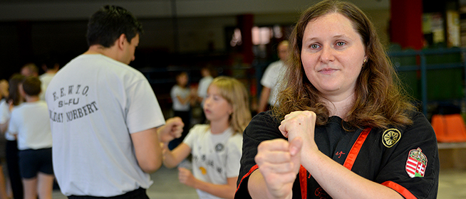 Szorongó embereken is segít a Wing Tsun Kung Fu és a harcművészet mestere, Szabó Edina