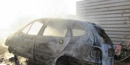 Teljesen kiégett egy autó Drávaszerdahelyen