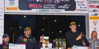 Két defekt után is a második helyen zárta a Miskolc Rallye-t Szauer Gergő és Rácz László