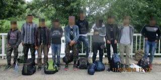 Újabb tíz migránst tartóztattak fel a Mohácsi-szigeten