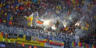 A román ultrák ismét kórusban gyalázták Magyarországot