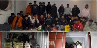 Csaknem negyven migráns került elő egy tehervonatból
