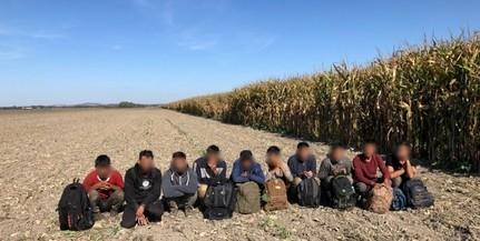 Tíz migránst fogtak szombaton délelőtt Kölked térségében