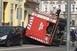 Felborult egy tűzoltóautó szombaton Siklóson
