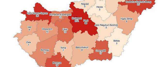 Baranyában tizenkilenc koronavírussal fertőzött beteget tartanak nyilván