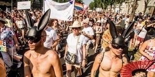 Feljelentést tettek a homoszexuális felvonulás logója miatt