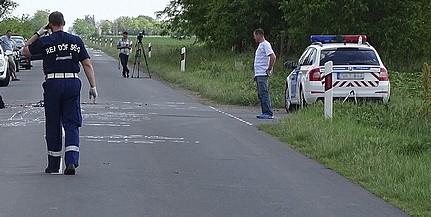 Villanyoszlopnak ütközött egy jármű a nyugati elkerülőn